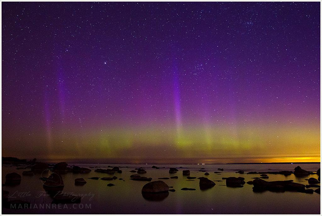 Aurora pillars